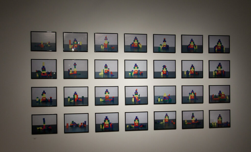 grid of photographs of building blocks
